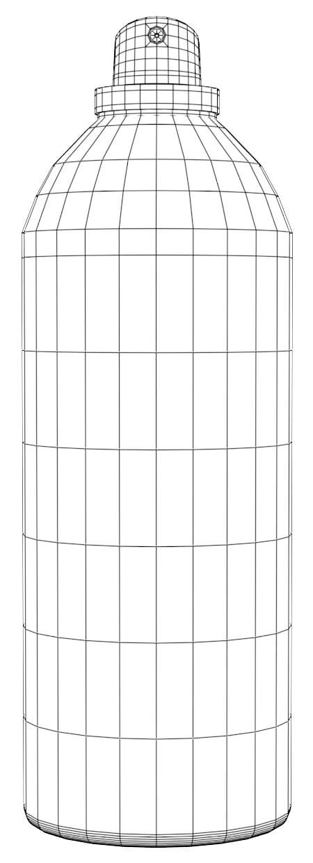 Wireframe of aerosol container